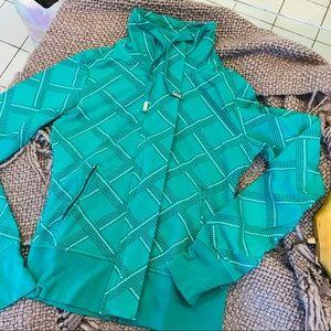 Green Pattern Zip Up NEW